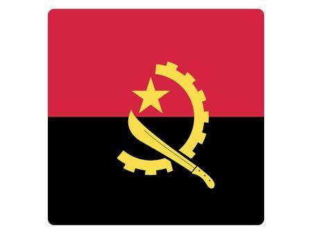 Square Flat Flag of Angola