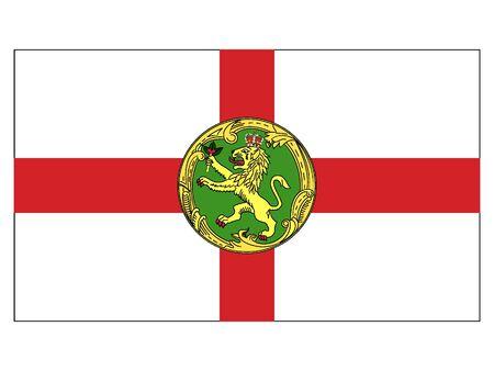 Flat Flag of Alderney