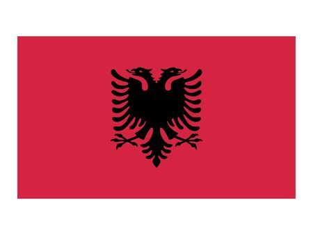 Flat Flag of Albania