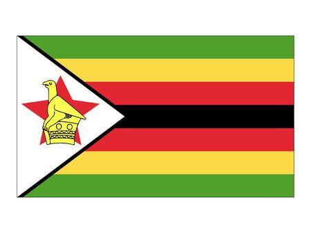 Flat Flag of Zimbabwe