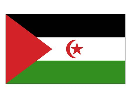 Flat Flag of Western Sahara