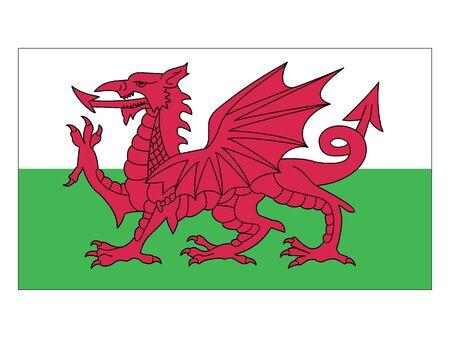 Flat Flag of Wales