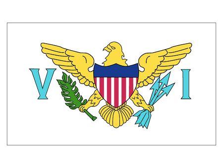 Flat Flag of United States Virgin Islands 일러스트