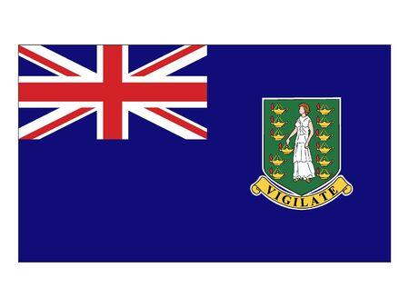 Flat Flag of British Virgin Islands