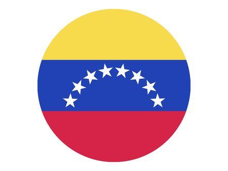 Round Flat Flag of Venezuela