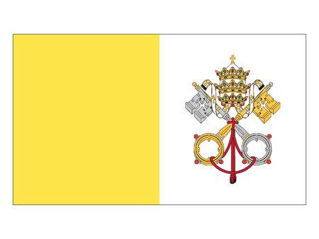 Flat Flag of Vatican 일러스트