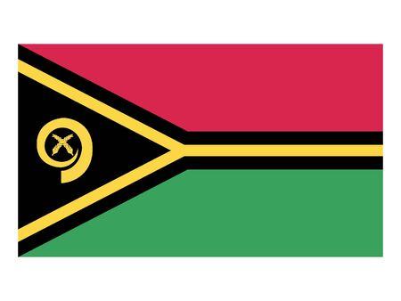 Flat Flag of Vanuatu 일러스트