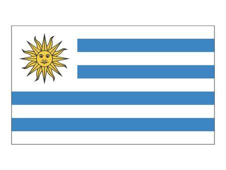 Flat Flag of Uruguay