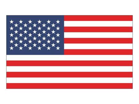 Płaska flaga Stanów Zjednoczonych Ameryki