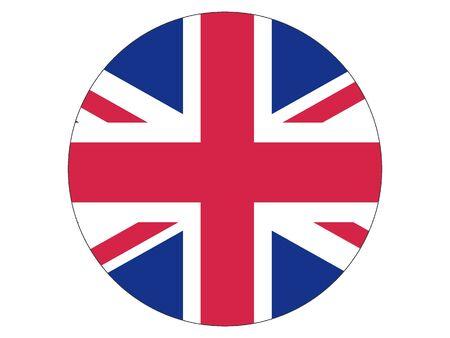 Round Flat Flag of United Kingdom