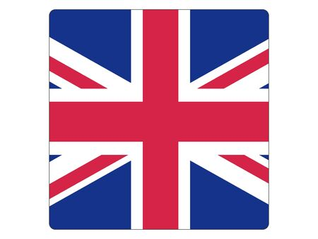 Square Flat Flag of United Kingdom