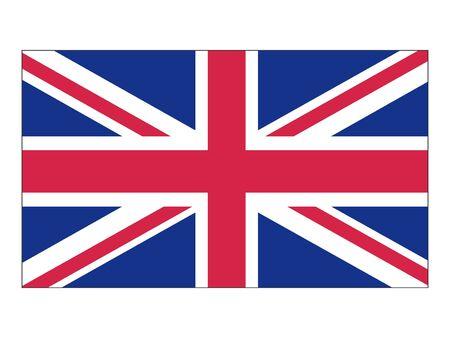 Flat Flag of United Kingdom 일러스트