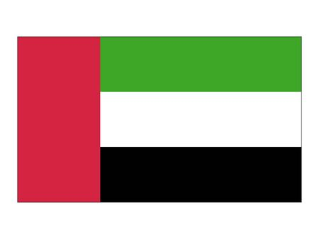 Flat Flag of United Arab Emirates