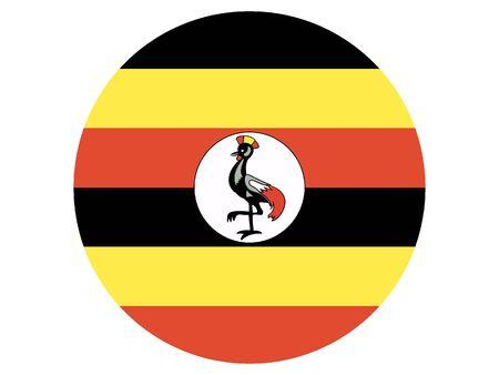 Round Flat Flag of Uganda