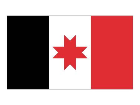 Flat Flag of Udmurtia