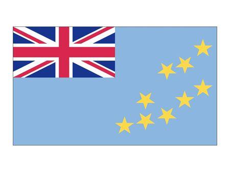 Flat Flag of Tuvalu