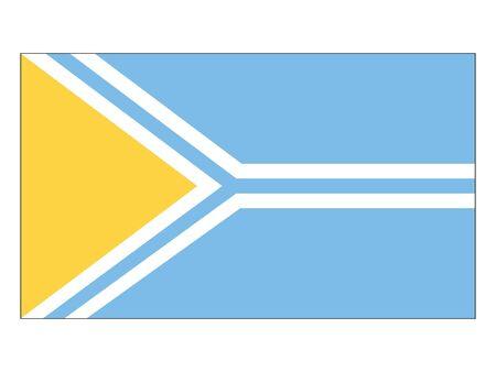 Flat Flag of Tuva