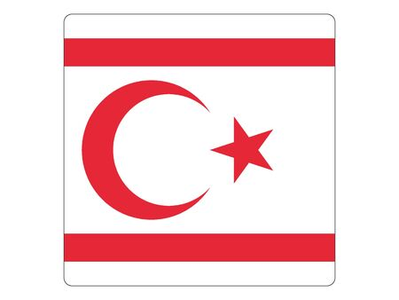 Square Flat Flag of Northern Cyprus