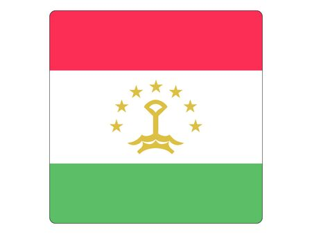 SquareFlat Flag of Tajikistan
