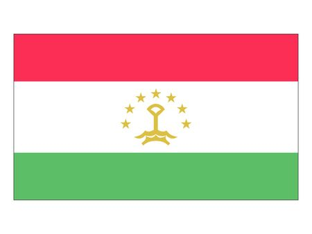 Flat Flag of Tajikistan Иллюстрация