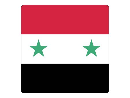 Square Flat Flag of Syria
