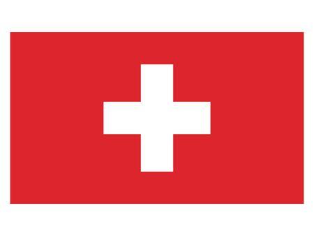 Flat Flag of Switzerland 일러스트