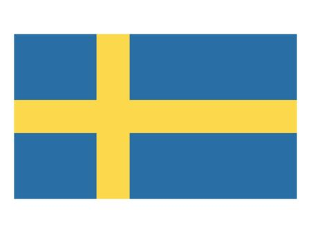 Flat Flag of Sweden 向量圖像