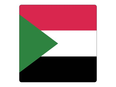 Square Flat Flag of Sudan