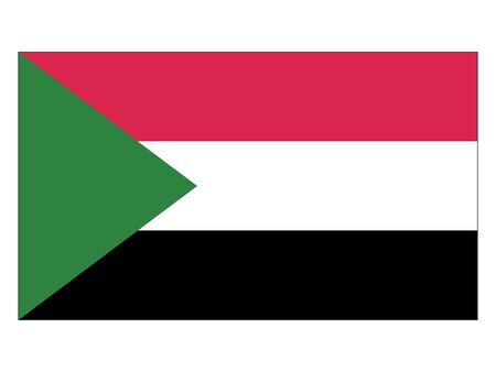Flat Flag of Sudan
