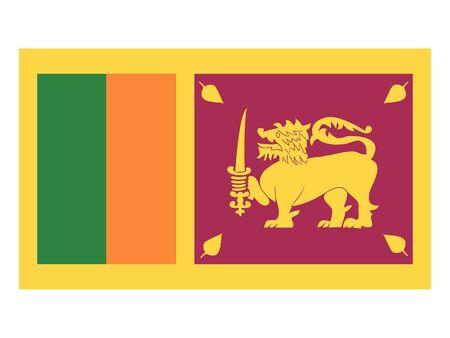 Flat Flag of Sri Lanka