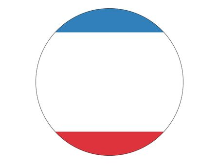 Round Flat Flag of Crimea