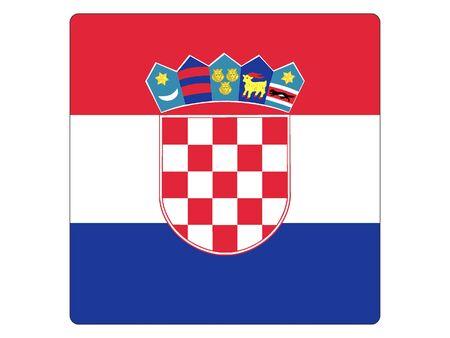 Square Flat Flag of Croatia