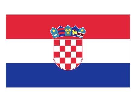 Flat Flag of Croatia