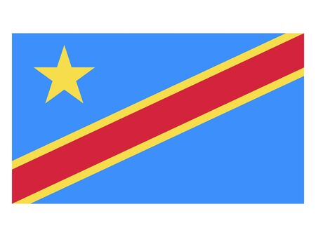 Flat Flag of Democratic Republic of the Congo Standard-Bild - 134548522