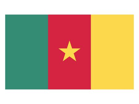 Flat Flag of Cameroon