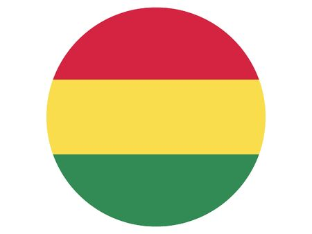 Round Flat Flag of Bolivia