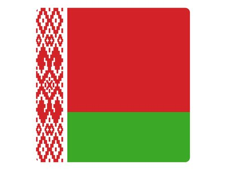 Square Flat Flag of Belarus