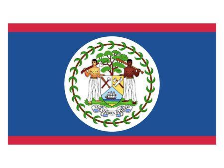 Flat Flag of Belize