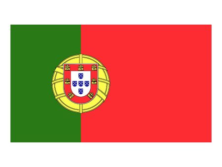 Flat Flag of Portugal