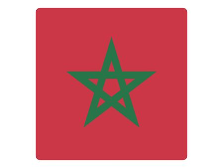 Square Flat Flag of Morocco
