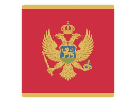 Square Flat Flag of Montenegro