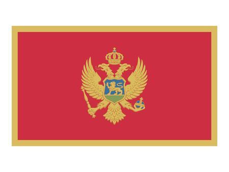 Flat Flag of Montenegro