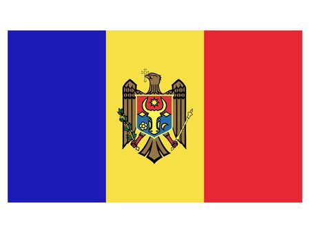 Flat Flag of Moldova