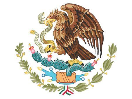 Coat of Arms of Mexico Vektoros illusztráció
