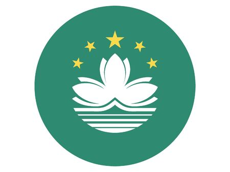 Round Flat Flag of Macau
