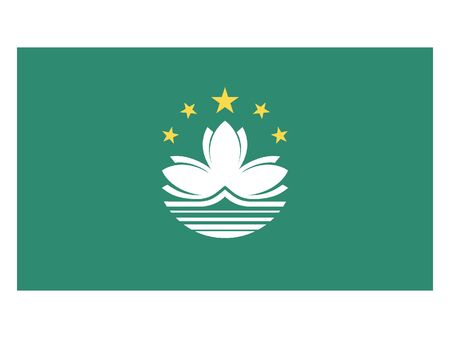 Flat Flag of Macau Illustration