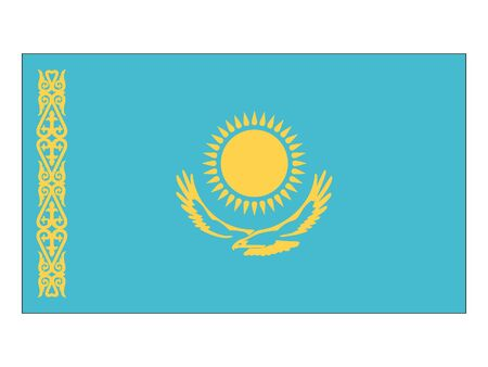 Flat Flag of Kazakhstan
