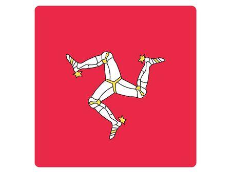 Square Flat Flag of Isle of Man