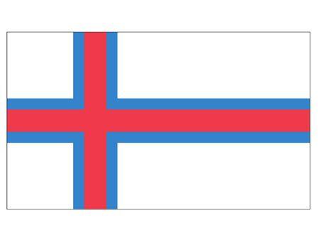 Flat Flag of Faroe Islands