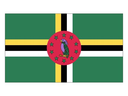 Flat Flag of Dominica
